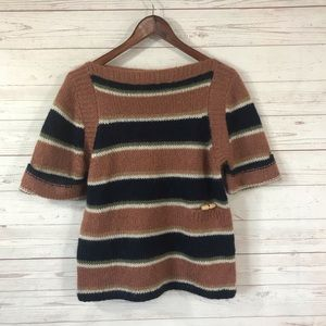 Calypso St. Barth Short Sleeve Striped Sweater Sm
